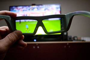 Photo - Specially designed glasses are required to watch 3D programming. <strong>John Atashian - ESPN 3D</strong>