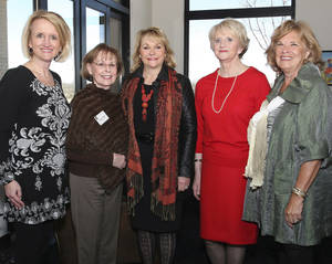 Photo - Denise Northrup, Nancy Coats, Mary Fallin, Nedra Funk, Reta Strubhar.