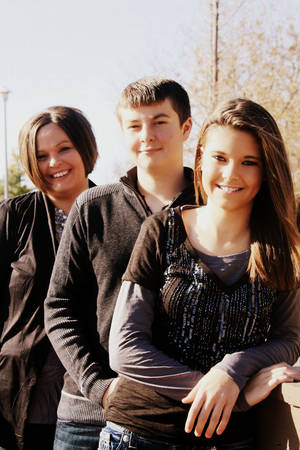Photo - From left, Michelle, Garrett and Caitlyn Seeliger.  PHOTO PROVIDED
