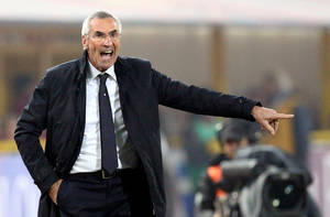 Photo - Lazio coach Edy Reja gestures during the Serie A soccer match between Bologna and Lazio at the Renato Dall' Ara stadium in Bologna, Italy, Saturday, Jan.11, 2014. (AP Photo/Studio FN)