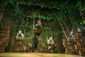"Photo - This theater publicity image released by Boneau/Bryan-Brown shows the cast of ""Matilda The Musical,"" during a performance in New York. (AP Photo/Boneau/Bryan-Brown, Joan Marcus)"