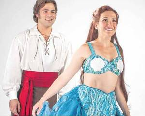 "Storm Lineberger plays Prince Eric and Amanda Lea LaVergne plays Princess Ariel in Disney's ""The Little Mermaid."" Photo by K.O. Rinearson"