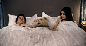 "Photo - Mark Wahberg, Seth MacFarlane and Mila Kunis star in ""Ted."" PHOTO PROVIDED"