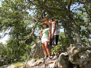 photo - Hikers check out the view on the trail at Lake Murray State Park. PHOTO PROVIDED.  <strong></strong>
