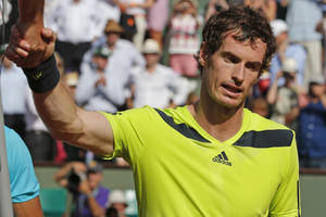 Photo - Britain's Andy Murray shakes hands with referee Damien Dumusois of France after losing the semifinal match of the French Open tennis tournament against Spain's Rafael Nadal at the Roland Garros stadium, in Paris, France, Friday, June 6, 2014. Nadal won in three sets 6-3, 6-2, 6-1. (AP Photo/Michel Euler)