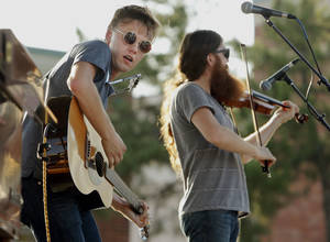 Photo - Parker Milsap, left, and Daniel Foulkes perform in concert during the annual Jazz in June festival. PHOTO BY STEVE SISNEY, THE OKLAHOMAN <strong>STEVE SISNEY</strong>