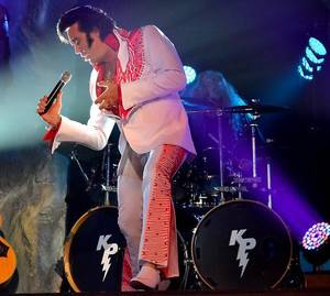 Photo - Kraig Parker, as Elvis, will perform a benefit concert Saturday, July 27, in Chickasha. (Provided)