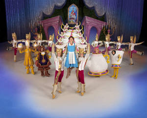 "Photo - Belle and her friends from ""Beauty and the Beast"" appear in ""Disney on Ice presents Rockin' Ever After."" Photo provided. <strong></strong>"