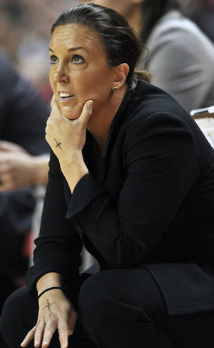 Photo - Georgia Tech's head coach MaChelle Joseph watches her team in the first half of an NCAA college basketball game against Maryland, Sunday, Jan. 19, 2014, in College Park, Md. Maryland won 92-81.,((AP Photo/Gail Burton)