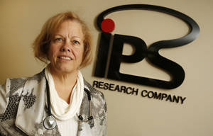photo - Dr. Louise Thurman, CEO, IPS Research Company in Oklahoma City, Wednesday  January  23, 2013. Photo By Steve Gooch, The Oklahoman