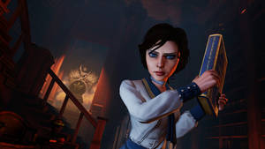 "Photo - This publicity photo released by 2K Games/Irrational Games shows the character, Elizabeth, in a scene from the video game ""BioShock Infinite."" With an enterprising blend of art and technology, the creators of ""BioShock Infinite"" have aspirations that she'll be the most human-like character to ever appear in a video game. (AP Photo/2K Games/Irrational Games)"