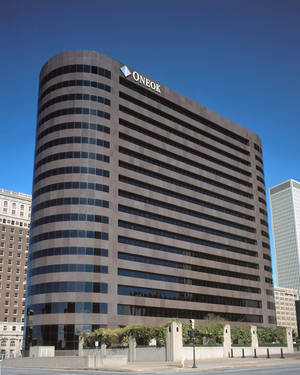 Photo - ONEOK Inc.'s headquarters in downtown Tulsa.