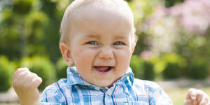 Photo - Boy (10 months) rejoicing
