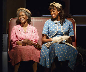 "Photo - This theater publicity image released by The Hartman Group shows Cicely Tyson, left, and Condola Rashad, during a performance of ""The Trip to Bountiful"" at the Stephen Sondheim Theatre in New York. (AP Photo/The Hartman Group, Joan Marcus)"