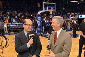 Photo - Jeff Van Gundy, left, and Mike Breen will broadcast the NBA Finals for ABC. ESPN photo <strong></strong>