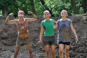 """Photo - The national Juggernaut """"mud run"""" series aims to provide a challenging, fun experience for participants while donating 15 percent of all registration fees as well as 100 percent of all fundraising to the Central and Western Oklahoma Affiliate of Susan G. Komen for the Cure. PHOTO PROVIDED"""