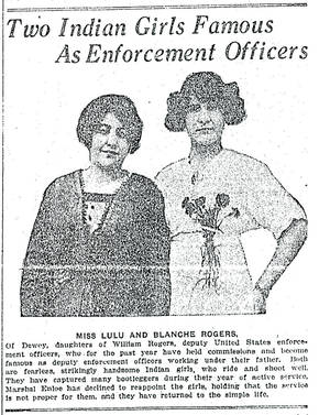 Photo - On Sept. 7, 1913, The Oklahoman published an article that showcased two Dewey, OK, sisters, Lula and Blanche Rogers. <strong></strong>