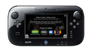 Photo - This undated product image released by Nintendo of America shows a Nintendo Wii U GamePad running Nintendo TVii. The service, which comes with the new Wii U game console and its innovative GamePad touchscreen controller, transforms the GamePad by turning it into a simple remote control that operates your TV and set-top box. (AP Photo/Nintendo of America)