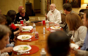 "Photo - Jim Huff talks during a 2012 ""Amazing Faiths"" interfaith dinner in Edmond. PHOTO BY BRYAN TERRY, THE OKLAHOMAN ARCHIVE <strong>BRYAN TERRY - THE OKLAHOMAN</strong>"