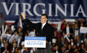 photo -   Republican presidential candidate, former Massachusetts Gov. Mitt Romney speaks during a campaign event at Ida Lee Park Wednesday, Oct. 17, 2012, in Leesburg, Va. (AP Photo/Alex Brandon)