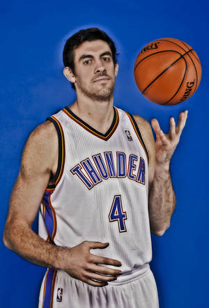 Photo - Nick Collison during the Oklahoma City Thunder media day at the Chesapeake Energy Arena in Oklahoma City, Okla. on Tuesday, Dec. 13, 2011. Photo by Chris Landsberger, The Oklahoman <strong>CHRIS LANDSBERGER</strong>