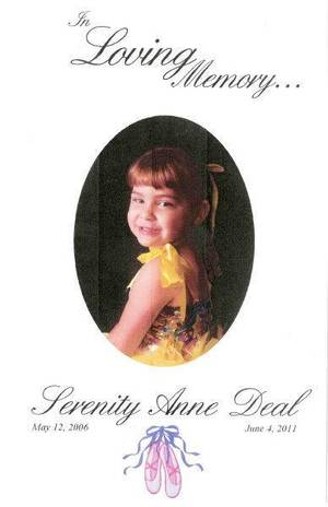 Photo - Serenity Anne Deal. Died under her father's care. ORG XMIT: KOD