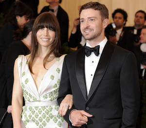 Photo -   FILE - In this May 7, 2012, file photo, Jessica Biel and Justin Timberlake arrive at the Metropolitan Museum of Art Costume Institute gala benefit, celebrating Elsa Schiaparelli and Miuccia Prada in New York. The couple released a statement Friday, Oct. 19, 2012, to People magazine confirming their wedding. They said the ceremony was beautiful and it was special to be surrounded by our family and friends. (AP Photo/Evan Agostini, File)