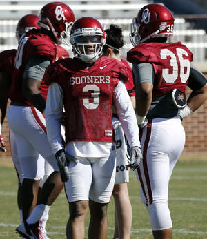 Photo - OU will rely this season on the veteran leadership of junior receiver Sterling Shepard.                    Photo by Steve Sisney, The Oklahoman
