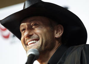 Photo - Country music star Tim McGraw will perform in the Penn Square Mall parking lot on Sunday, Nov. 17. <strong>Mark Humphrey - AP</strong>