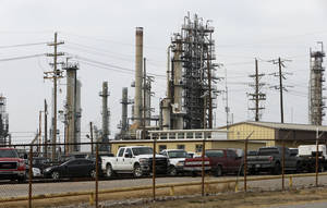 Photo - An oil refinery in Wynnewood.  Photo by Steve Sisney, The Oklahoman Archives