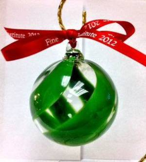 Photo - Fine Arts Institute of Edmond is offering a holiday Christmas ornament for the eighth year. This year's commemorative glass ornament is selling for $25. PHOTO PROVIDED