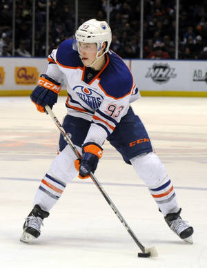 Photo - Ryan Nugent-Hopkins was in the running to be the NHL's top rookie last season. AP photo