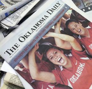 photo - The Oklahoma Daily announced Wednesday that it would resume printing a summer newspaper despite a previous announcement that staff would venture online-only during July. <strong></strong>