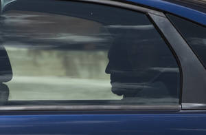 Photo - Pope Francis is silhouetted as he  leaves after his meeting with King Felipe VI of Spain and and Queen Letizia of Spain, at the Vatican, Monday, June 30, 2014. (AP Photo/Alessandra Tarantino)