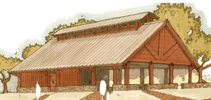 Photo - The conceptual drawing by Tom Hoch Design depicts one of the next projects for Sportsman's Country Club, a 3,500-square-foot open-air pavilion. <strong> - PROVIDED BY SPORTSMAN'S COUNTRY</strong>
