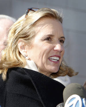Photo -  Kerry Kennedy talks to reporters after she was acquitted Friday of drugged driving. Kennedy accidentally took a sleeping pill and then sideswiped a truck in July 2012. AP Photo  <strong>Tania Savayan -  AP </strong>
