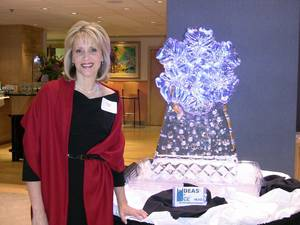 photo - Karen Wicker, principal of Candor Public Relations, at the winter party she co-chaired for Oklahoma City's downtown Rotary club. PHOTO PROVIDED