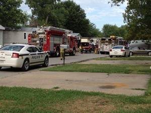 Photo - Firefighters found a man dead Monday after a fire in his mobile home. ZACK STOYCOFF/Tulsa World
