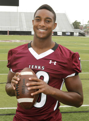 Photo - Jenks' Steven Parker is No. 1 on The Oklahoman's Super 30 list of the state's top recruits. Photo by Paul Hellstern, The Oklahoman <strong>PAUL HELLSTERN - Oklahoman</strong>