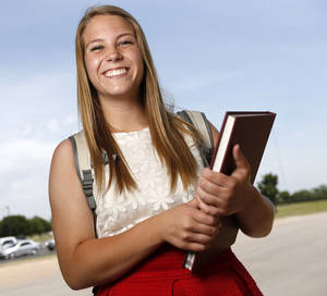 Photo -  Abby Hammons was admitted into to OU's occupational therapy program through an early admittance option. Photo by Nate Billings, The Oklahoman  <strong>   -   </strong>