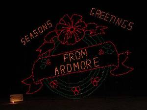 Photo - This display is part of the Festival of Lights in Ardmore. Photo provided