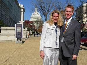 photo - Congressman-elect James Lankford and his wife, Cindy, pause between meetings on Capitol Hill in Washington on Friday. PHOTO BY CHRIS CASTEEL, THE OKLAHOMAN <strong> - The Oklahoman</strong>