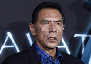 "Photo - FILE - This Dec. 16, 2009 file photo shows Wes Studi at the premiere of ""Avatar"" in Los Angeles. Studi, a well-known for his roles in ""Dances with Wolves"" and ""The Last of the Mohicans,""  has pleaded no contest to driving while intoxicated and was given a suspended 90-day jail sentence in Santa Fe. (AP Photo/Matt Sayles,File)"