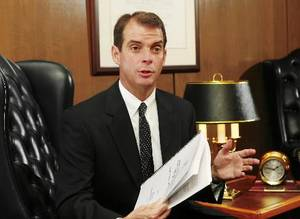 photo - Terry Cline, Oklahoma&#039;s Commissioner of Health, is seen in this file photo. Planned Parenthood of the Heartland filed its lawsuit against Cline in federal court on Friday.
