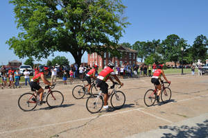 photo - Remember the Removal riders return to Tahlequah in this photo from the 2011 ride. The ride retraces one of the routes of the Trail of Tears.  PROVIDED
