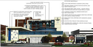 Photo - Plans for the St. Anthony Hospital expansion are shown in this drawing. Provided by Rees Associates