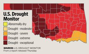 Photo - U.S. Drought Monitor report released Sept. 6, 2012. <strong></strong>