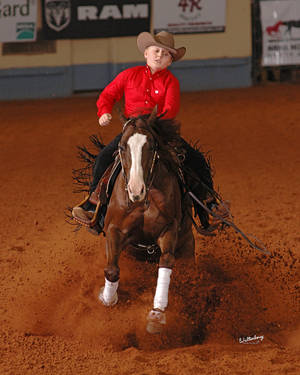 Photo - Cade McCutcheon, 12, of Aubrey, Texas, won $41,000 at the National Reining Horse Association Futurity on Thanksgiving Day. PHOTO PROVIDED