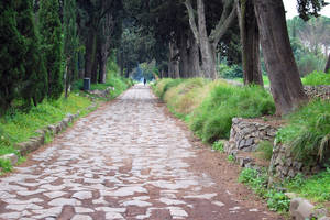 Photo - The ancient paving blocks of the Appian Way can be seen in a park just outside of central Rome. Photo by Rick Steves