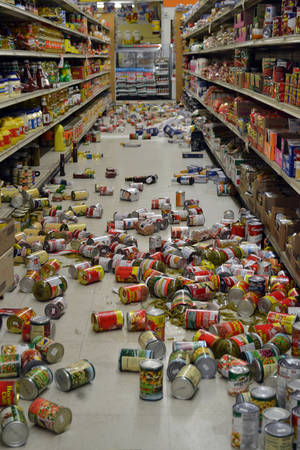 photo -   El Sol Market on Main Street in Brawley, Calif., was hit hard by the earthquakes that hit throughout Sunday, Aug. 26, 2012. Dozens of small to moderate earthquakes rattled Southern California on Sunday, shaking an area from rural Imperial County to the San Diego coast and north into the Coachella Valley. (AP Photo/Imperial Valley Press, Brandy Ronek)
